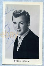 BOBBY DARIN (d. 1973) Original Signed Fan Photo Vintage Autograph Signature
