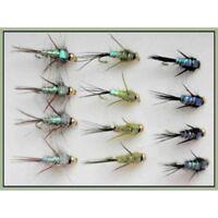 Mousse fesses Blob Truites Mouches 6 pack Orange Taille 10-Fishing Flies