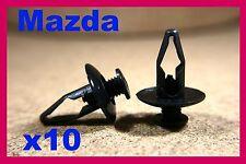 10 MAZDA wheel arch flare lining panel trim mud splash guard fasteners