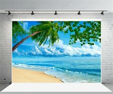 7x5ft Summer Sea Beach View Photography Backgrounds Vinyl Photo Studio Backdrops