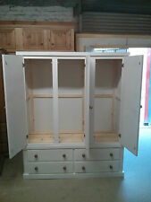 HANDMADE WENTWORTH TRIPLE 4 DRAWER WARDROBE NO FLAT PACKS FULLY ASSEMBLED