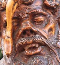 19C Grotesque Carved Walnut Mythological Legendary Folk Art