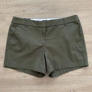J. Crew Factory Classic 100% Cotton Chino Shorts 5 Inch Inseam Loden Green Sz 12