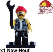 Lego - Figurine Minifig Minifigurine série 10 Motorcycle Mechanic motard NEUF