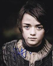 Maisie Williams In-person AUTHENTIC Autographed Photo COA SHA #53033