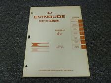1967 Evinrude Fisherman 6 HP Model Shop Service Repair Manual