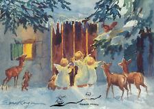 Kunstkarte: Erica von Kager - Engel mit Tieren am Haus
