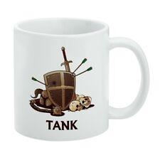 Tank Warrior RPG MMORPG Class Role Playing Game White Mug