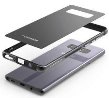Puregear negro Glassbak 360 funda aluminio Antigolpes para Samsung Galaxy Note 8
