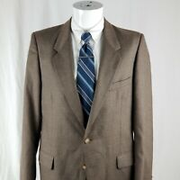 YSL Yves Saint Laurent Men's 38 R 2 Button Wool Sport Coat Blazer Suit Jacket