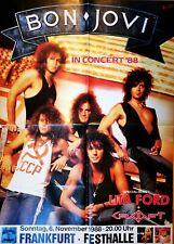 BON JOVI  1988 orig. Concert Poster  --  Konzert Plakat  84 x 118 cm VERY BIG