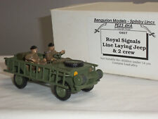 BENGURIAN MODELS GS57 ROYAL SIGNALS LINE LAYING MILITARY JEEP + CREW FIGURE SET