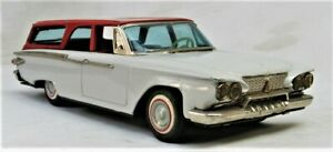 Vintage 1961 Tin Friction Plymouth Station Wagon -- Made in Japan by Ichiko