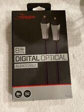 Rocketfish - 8' Toslink Optical Audio Cable - Black