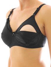 schwarz Still-BH Clip ohne Bügel Umstands  Baumwolle stillen BH