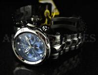 Invicta Mid-Size 46mm Venom Blue Dial SWISS MOVT Black IP High Polish SS Watch