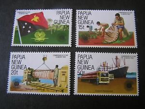 PAPUA NEW GUINEA, SCOTT # 580-583(4),COMPLETE SET 1983 COMMONWEALTH DAY MNH