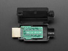 HDMI Male Plug to Breakout DIY Connector Plug Jack w/ Plastic Housing