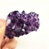 1Pc Natürliche Amethyst Geode Kristallquarz Amethyst Cluster Mineral Specim U3E6