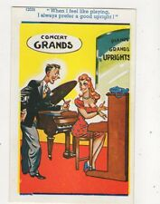 I Prefer A Good Upright Piano 12030 Vintage Comic Postcard 358b