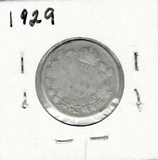 1929 Dime Canada Silver Ten Cents King George V (1) - Free Shipping!