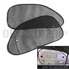 2PCS Black Car Sun Shade Mesh Auto Block Rear Window Visor Sunshade 64 x 38 cm