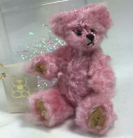 Little Gem Sugar teddy bear miniature mohair jointed pink tag box 1995 limited P