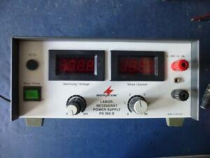 Monacor PS305D PS 305 Labornetzteil Netzgerät Netzteil 0-30 V 0-5 A LED rt 4mm