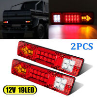2 12V Rear Tail Lights LED Light for Transporter Truck Lorry Trailer Turn Signal