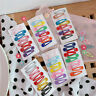 10PCS/Set BB Clips Snap Hair Clips Hairpins Girls Barrettes Candy Color Teardrop