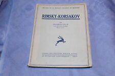RIMSKY-KORSAKOV par MARKEVITCH - Editions RIEDER 1934