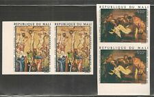 Mali #C216-C217 (AP33) VF MNH Imperf Pairs - 1974 400fr to 500fr Paintings