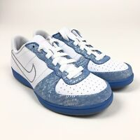 NikeLegend S/S Womens Metallic Blue Silver Shoes Size 11 Retro 317556-101