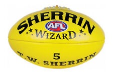Sherrin Wizard Imported Leather Football Yellow 5