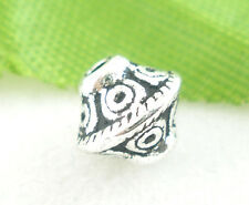 400Pcs Silver Tone Bicone Spacer Beads 6x6mm
