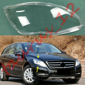 For Mercedes Benz W251 R320 2009-17 Right Side headlamp cover Clear  PC+Glue