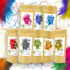 Natural Food Colouring Powder Blue Spirulina, Pink Pitaya, Smoothie Bowl Color