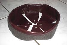WW1 coiffe intérieure CUIR ANCIEN MARRON FONCE casque Adrian m1915 T.60 N293