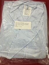ONE NEW Dressing Robe Striped Seersucker Durable Press Large w/Tie Tradewinds