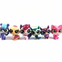 Lot 6Pcs LPS Littlest Pet Shop cat owl animal hasbro mini figure toy girl gift