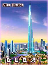 Dubai Burj Khalifa United Arab Emirates Arabian Travel Advertisement Poster 2