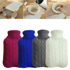 2 L Winter Knitted Hot Water Bottle Cover Therapy Winter Warm Heat Case Soft Bag
