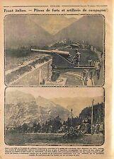 Fort Canon Artillerie General Luigi Cadorna Victory Bainsizza Italy WWI 1915