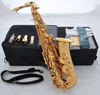 Professional New Gold 54 Reference Eb Alto Saxophone Sax +Pro Metal Mouthpiece