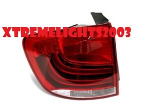 BMW X1 X-1 E84 LEFT DRIVER OUTER TAILLIGHT TAIL LIGHT REAR LAMP NEW W/BULBS
