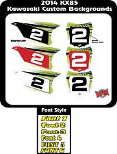 2014 to 2016 KX85 KX100 Custom Kawasaki Background MX Graphics Numbers