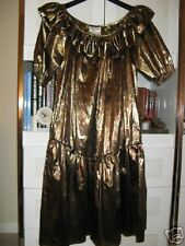 VICKY VALERE PARIS GOLD DRESS RUSSIAN COLLECTION Vintage 1970's CARA size L