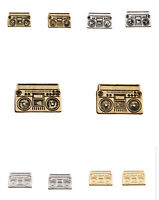 vintage retro punk style tape recorder / radio earrings different colours