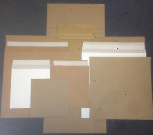 """STRONGEST ALL BOARD VINYL LP RECORD MAILERS +  - STIFFENERS 7""""+ 12"""" + CRUCIFORM"""