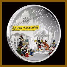 Disney $2 Dollar Silver 1 oz Coin Proof, 2015 Seasonal Greetings Classics Mickey